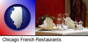 Chicago, Illinois - a French restaurant table setting