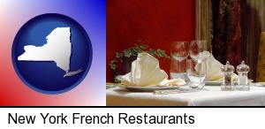 New York, New York - a French restaurant table setting